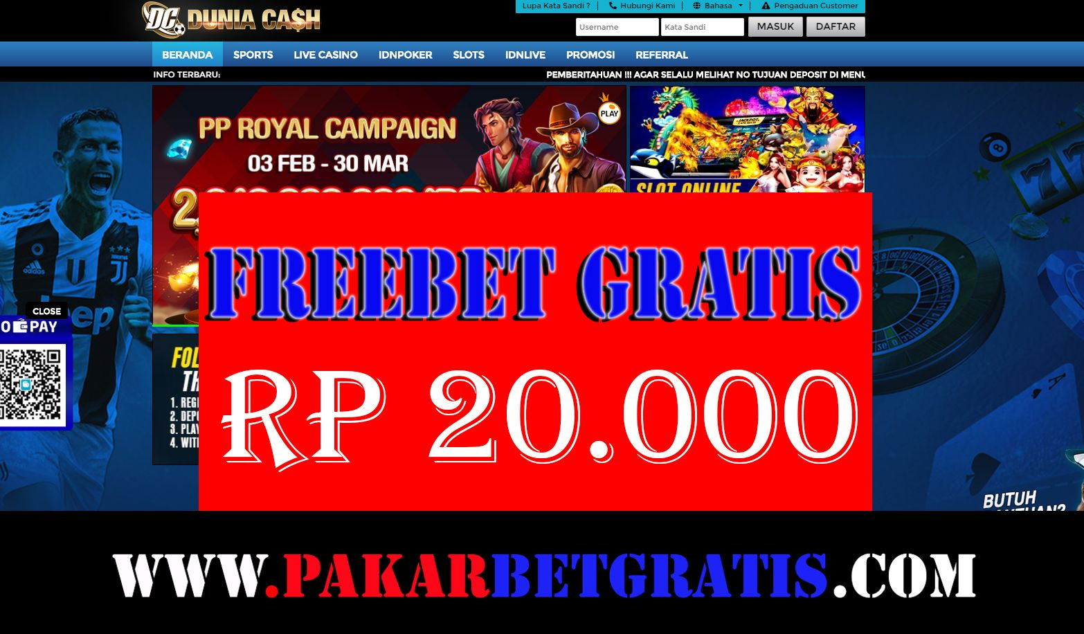 Freebet Casino Tanpa Deposit Daftar Situs Link Alternatif Judi Online Slot Kasino Mpo Terbaru