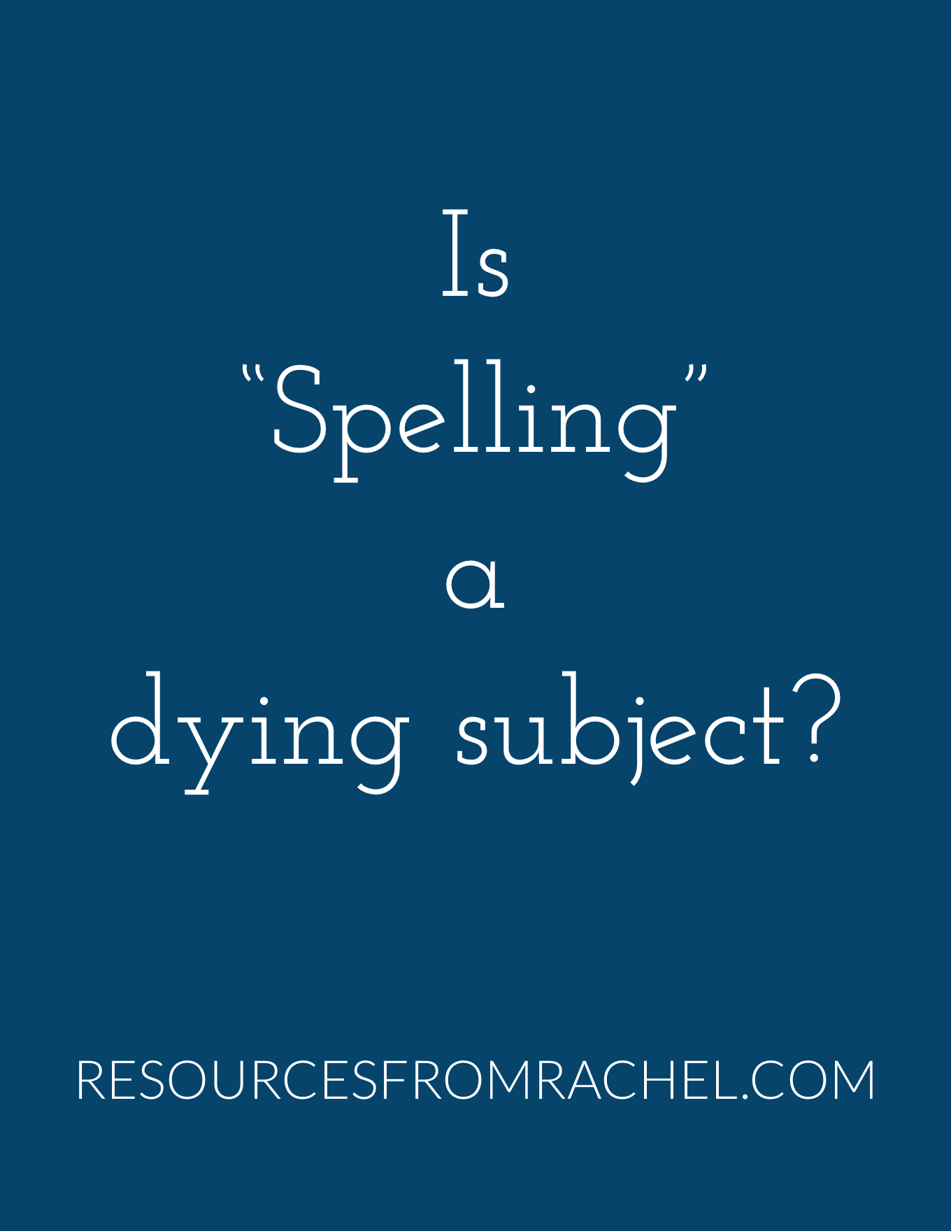 Spelling Words Worksheets