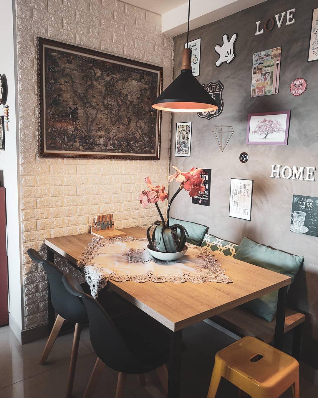 Mesa com banco: 30 ideias para quem quer fugir do tradicional