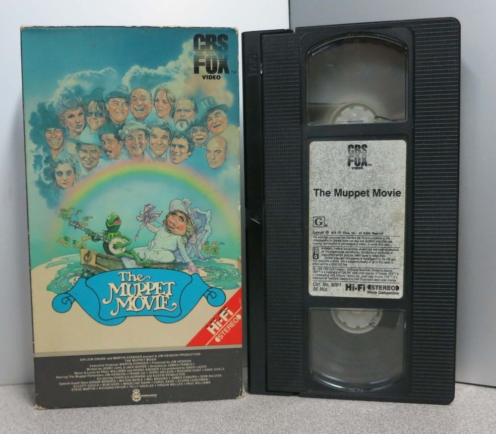 THE MUPPET MOVIE VHS 1979/1984 **TESTED** FAST SHIPPER ...