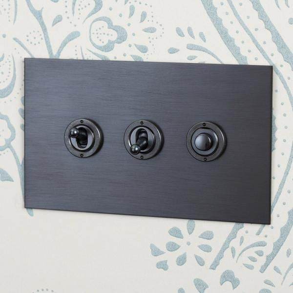 Antique Bronze Dolly Switches With Button Dimmer