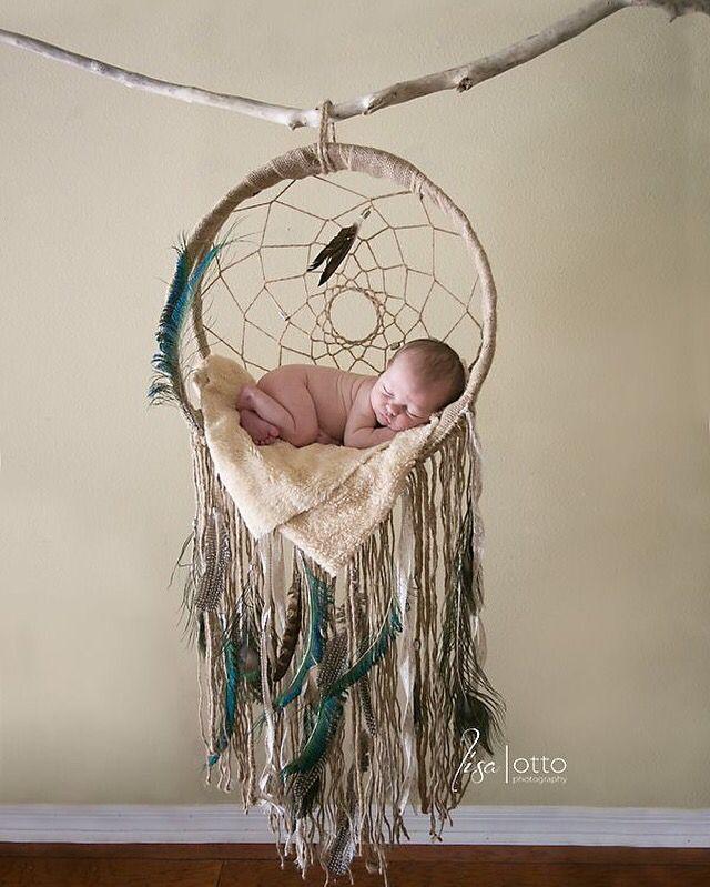 Sleeping Baby In A Dream Catcher Baby Dreamcatcher Dream