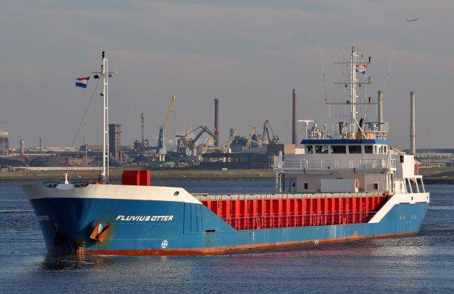 Voormalige Arklow Sea  8 december 2015 te IJmuiden uit de Middensluis onderweg naar zee  http://koopvaardij.blogspot.nl/2015/12/voormalige-arklow-sea.html