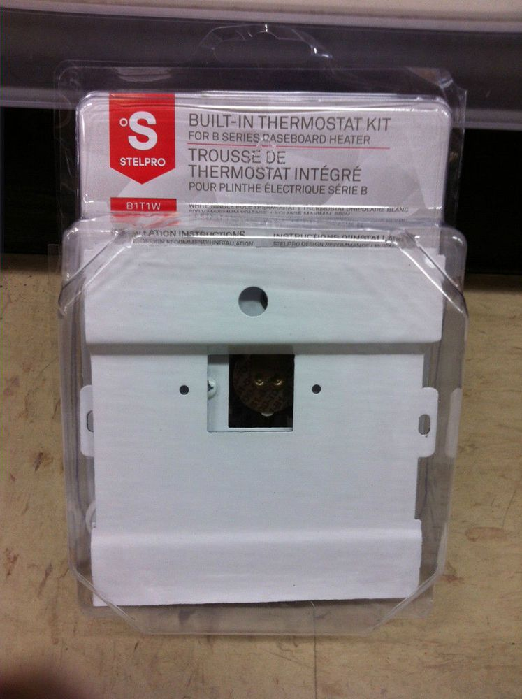 stelpro built in thermostat kit for b series baseboard heater b1t1w rh pinterest com Hot Water Baseboard Heaters Wiring a 240V Baseboard Heater