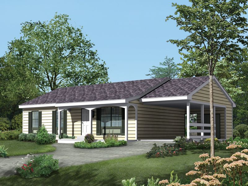 awesome house plans with carports #9: This ranch design floor plan is 1120 sq ft and has 3 bedrooms and has  bathrooms.