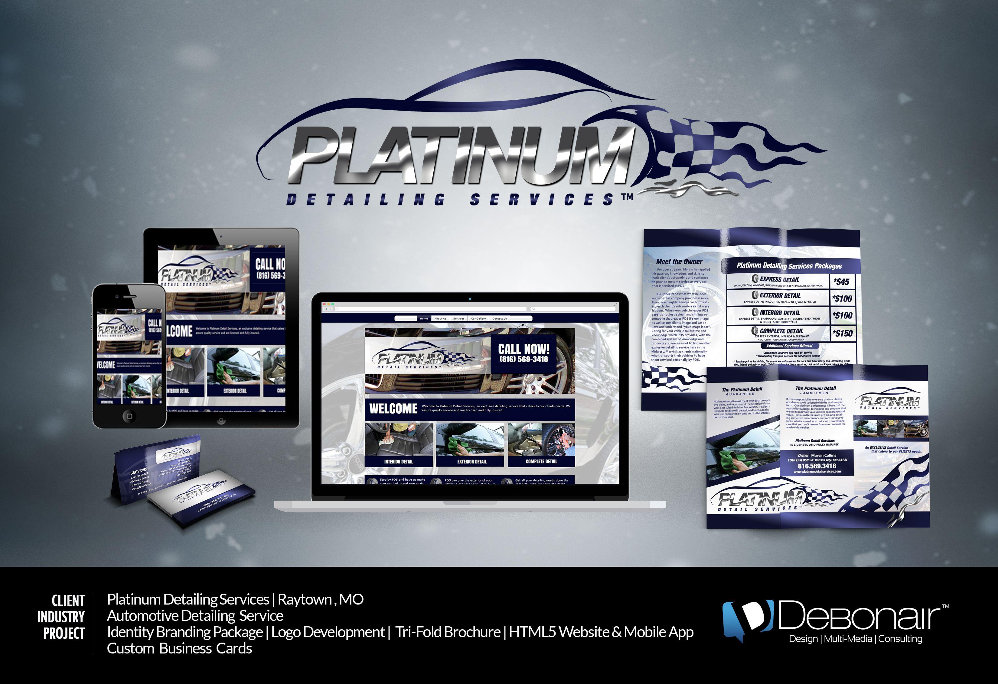 Platinum Auto Detailing Identity Package including logo development ...