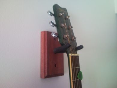 make your own guitar wall mount diy guitar wall hanger. Black Bedroom Furniture Sets. Home Design Ideas