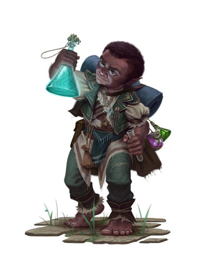 Halfling Mage Wizard Alchemist Artstation iOS App, Artstation © 2016