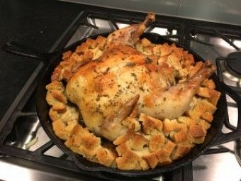 Cook S Country Skillet Roasted Chicken And Stuffing