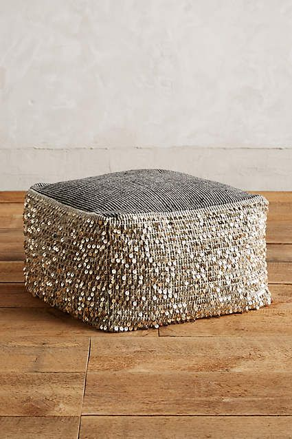 Outstanding 298 Paillette Pouf Anthropologie Com Decor Fabric Uwap Interior Chair Design Uwaporg
