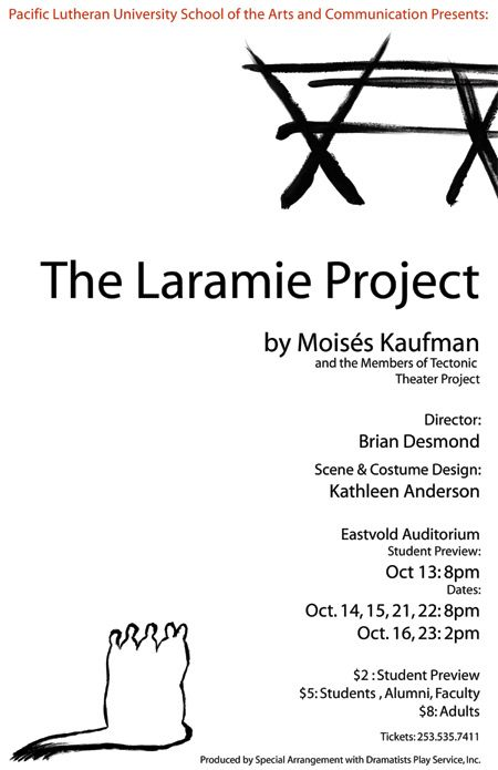 the laramie project poster design image laramie project  the laramie project poster design image