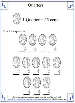 Counting Quarters Money Worksheet 2 Money Worksheets Counting Money Worksheets Worksheets