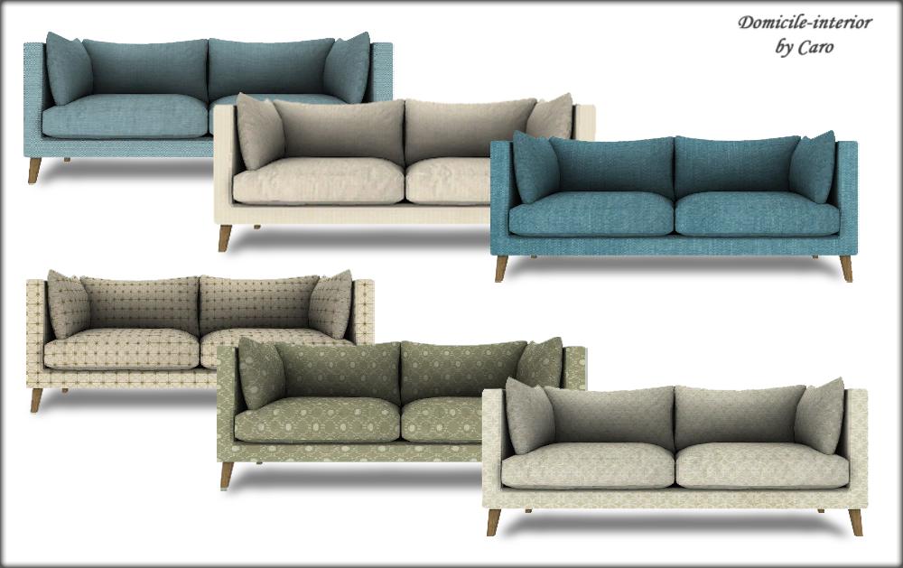 Domicile Interior Paisley Mari Samarium Sofa Sims Sims House Sims 4 Cc Furniture