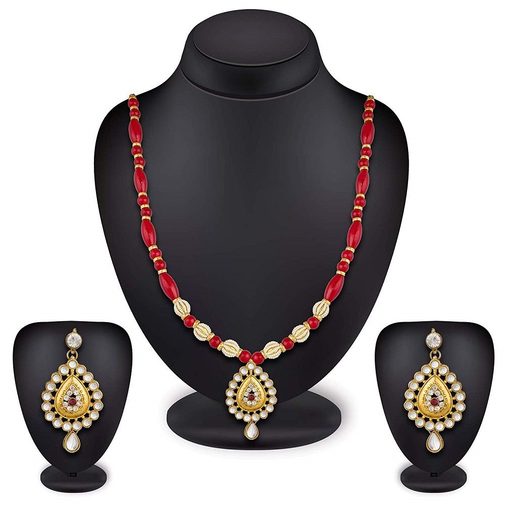 Wedding bridal rani haar necklace set for women and girls online at