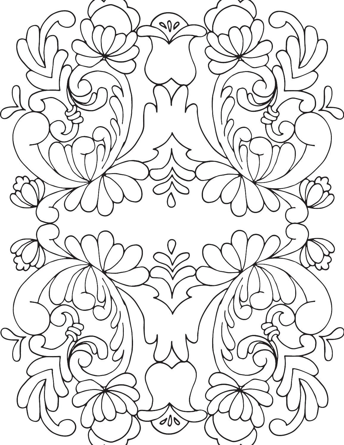 Rosemaling Coloring Book1 Paper Art Color Adult Coloring Pages