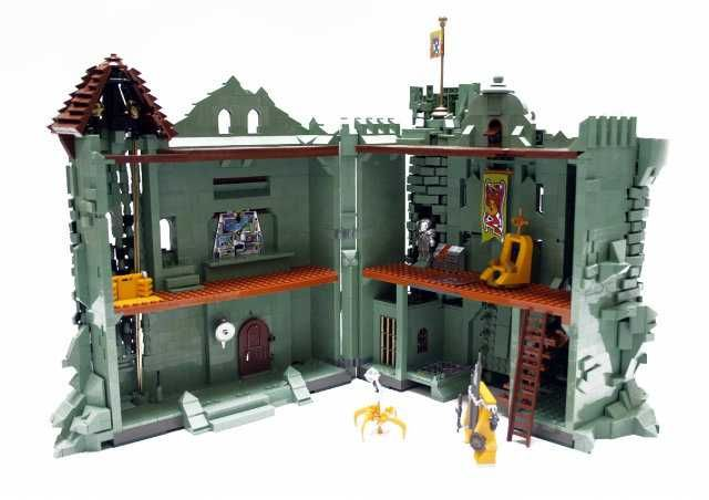 Masters Of The Universe Lego Castle Grayskull Set Rear View