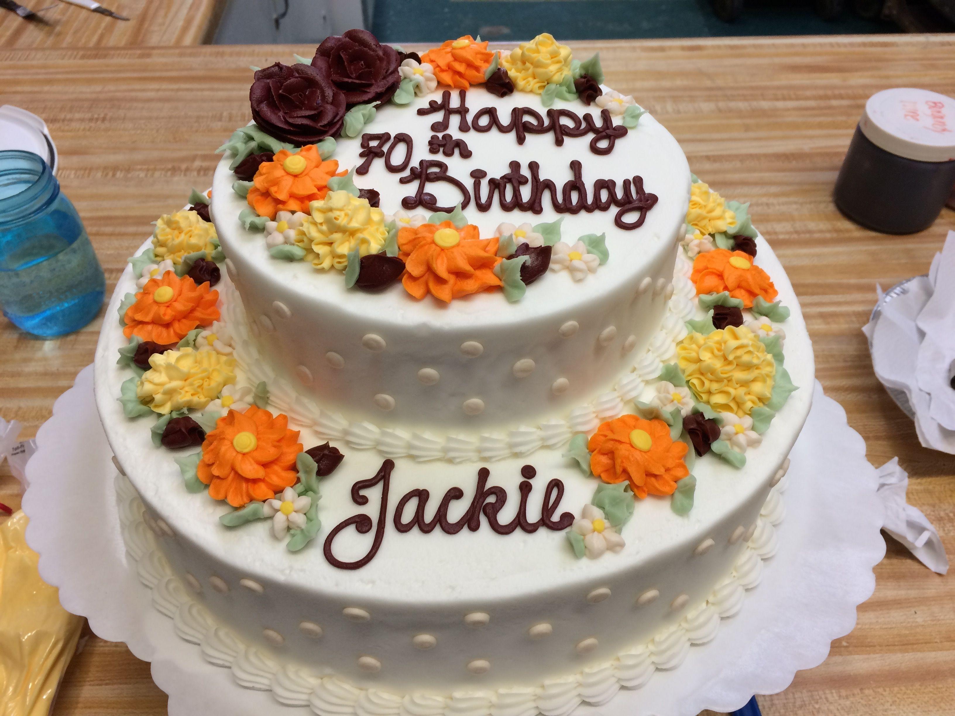 Awesome Decorated Birthday Cake With Fall Theme Westhampton Pastry Shop Funny Birthday Cards Online Elaedamsfinfo