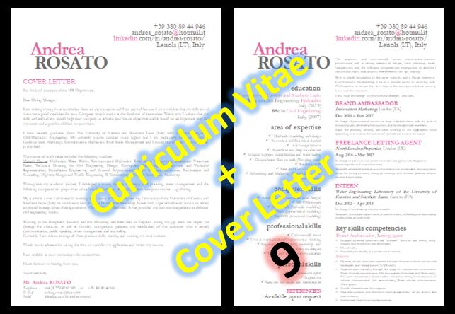 Cv Resume Curriculum Vitae Cover Letter Lettera Di Presentazione Lettera Di Presentazione Curriculum Vitae Lettera