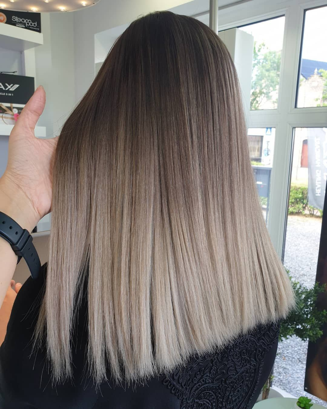 "HAIRSTYLIST-COLORIST on Instagram: ""A s h y � and C o o l � Trend color Alert � Coming from red/brown coloured hair This is our second session Swipe� see the before & more…"""
