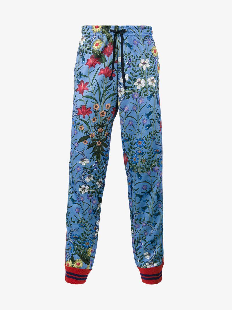69dc084a GUCCI FLORAL PRINT TRACK PANTS. #gucci #cloth # | Gucci Men | Gucci ...