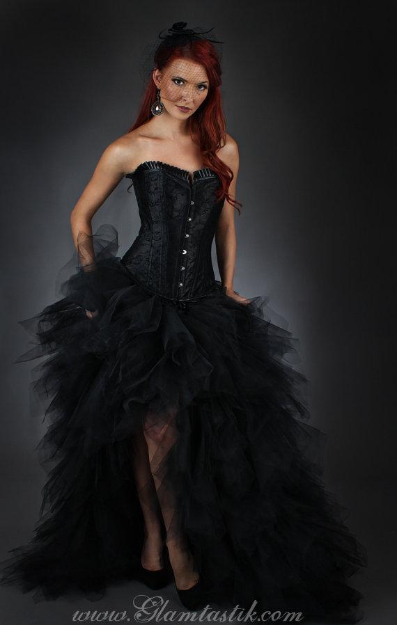 Custom Size Zebra corset with full Turquoise feather skirt | Large ...