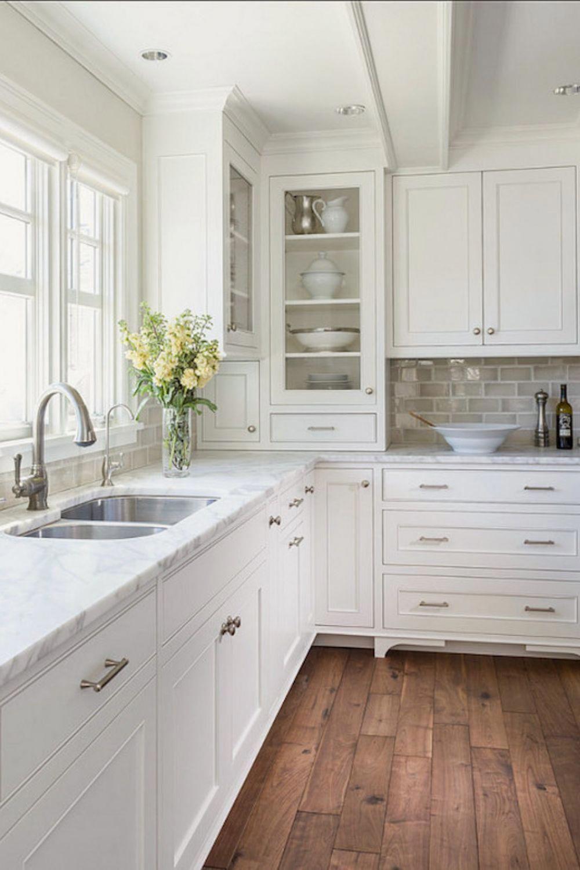 Luxury White Kitchen With Island About Home Decor 346 Kitchencabinets Kitchendesign Kit In 2020 Kitchen Cabinet Design White Kitchen Design Farmhouse Kitchen Design