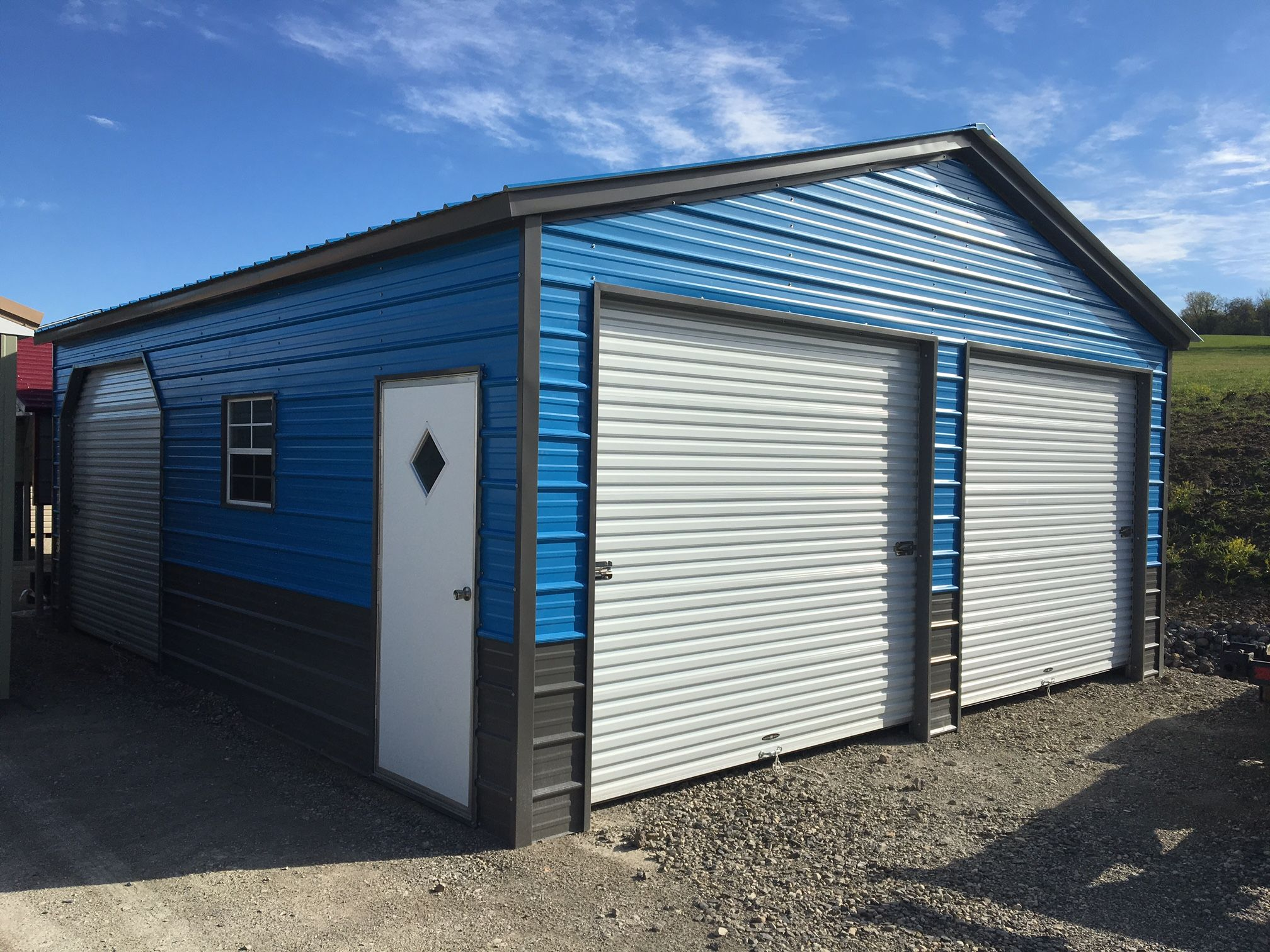 small resolution of custom 2 door multi entry garage ready for install two car garage garages