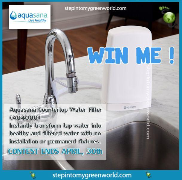 Do You Want To Win The Aquasana Countertop Drinking Water