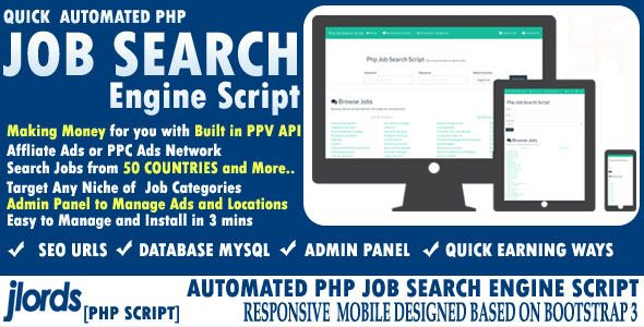 Automated Job Search Engine Script | Hot Templates | Search engine