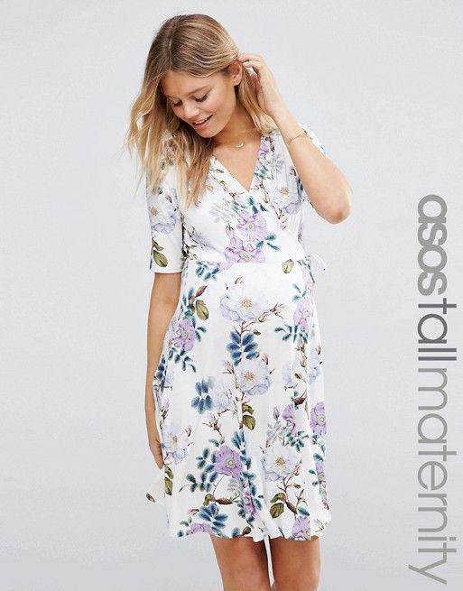 761f506868ed4 ASOS Maternity | ASOS Maternity TALL Tea Dress Mini Dress in Vintage Floral  Print