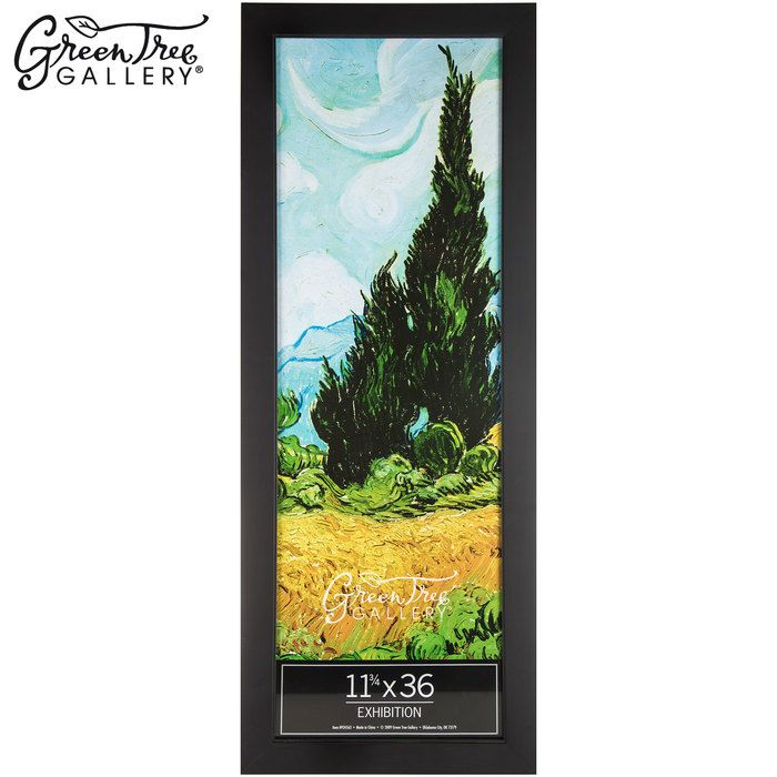 Black Exhibition Wood Poster Frame 11 3 4 X 36 Wood Poster Frames Frames On Wall Decorating With Pictures