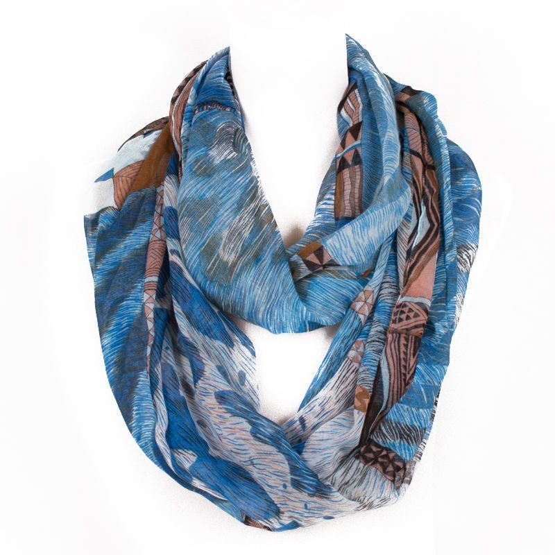 Fashion Ring Women Scarf Print Flower Animal Solid Stripe Scarf Famous Brand Design For Femme Long Size No.15001