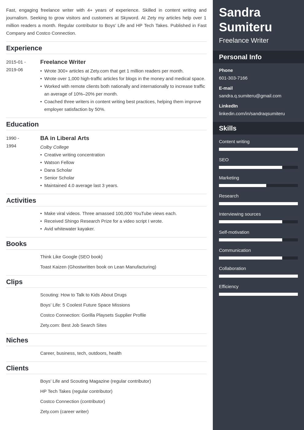 Beginner Freelance Writer Resume Beautiful Sample