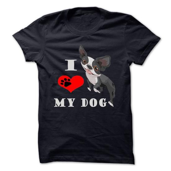 Dogs I Love My Dog T Shirts, Hoodies. Get it now ==► https://www.sunfrog.com/Pets/Dogs-I-Love-My-Dog.html?57074 $21