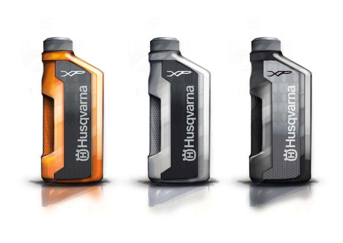 3ca0290bed48 Husqvarna Oil Bottles on Behance | Sketches | Oil bottle, Plastic ...