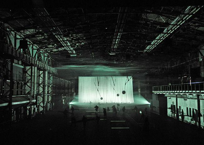 De Materie (Louis Andriessen), Set and lighting design: Klaus Grünberg, Ruhrtriennale, 2014