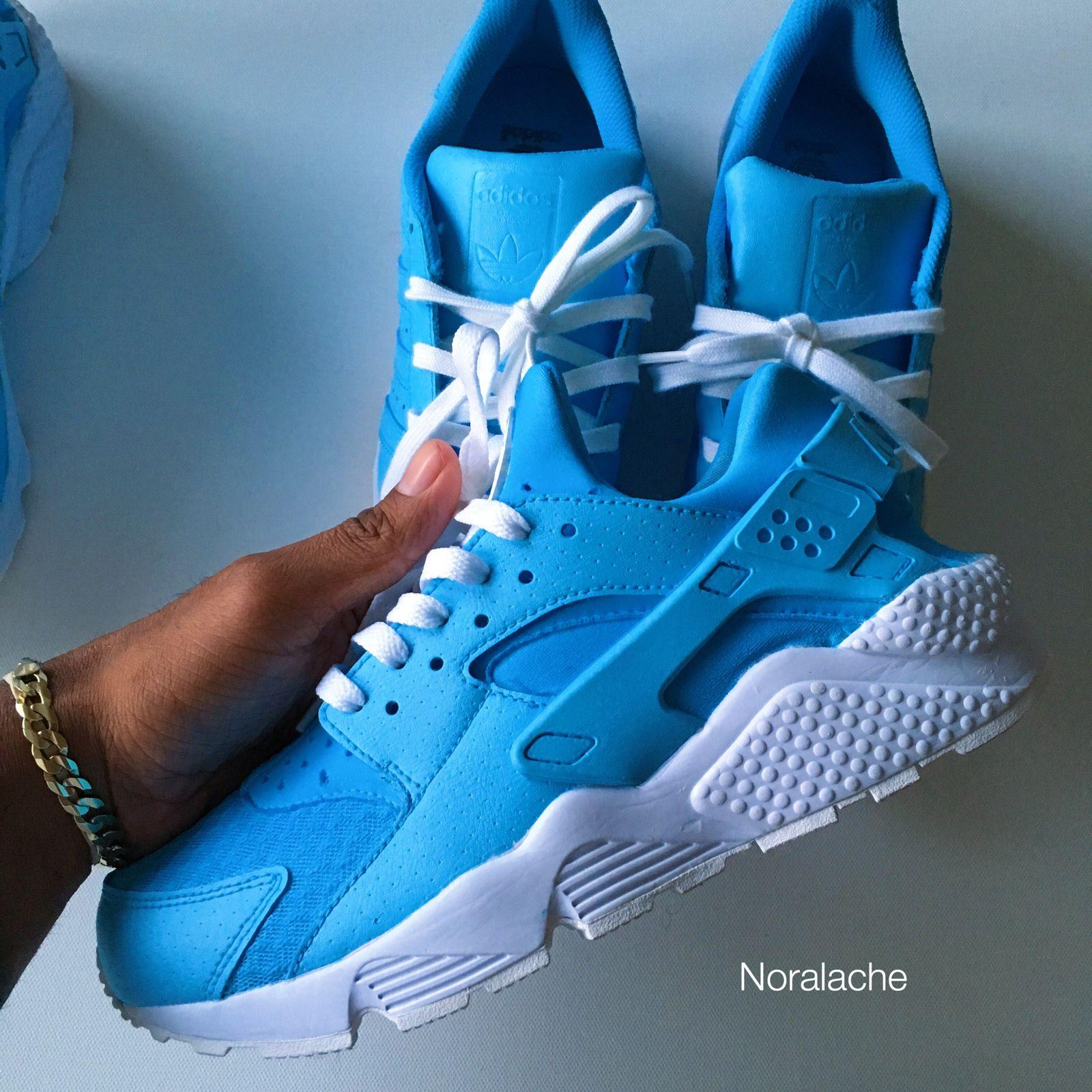 0cd5b3fab7e4 Sky Blue Huaraches   Adidas   Noralache