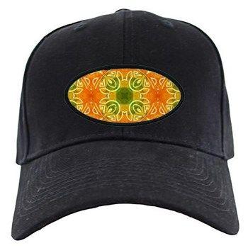 pattern Orange Baseball Hat