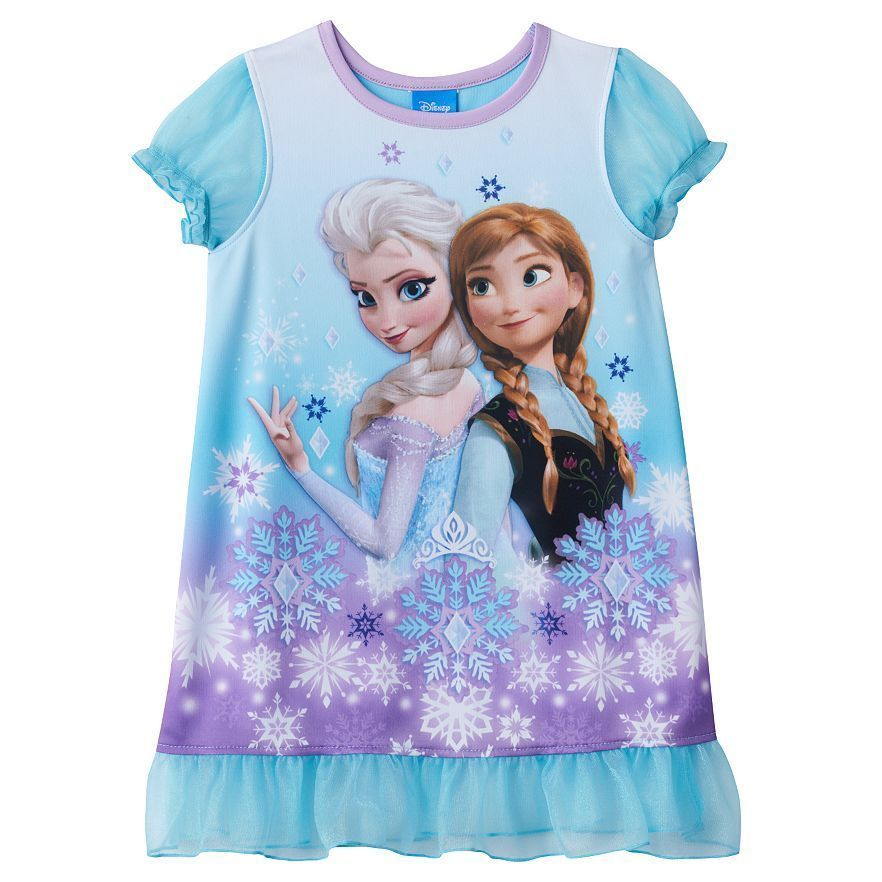 NWT Licensed DISNEY Frozen Anna and Elsa T-shirt Blue Soft FREE SHIPPING