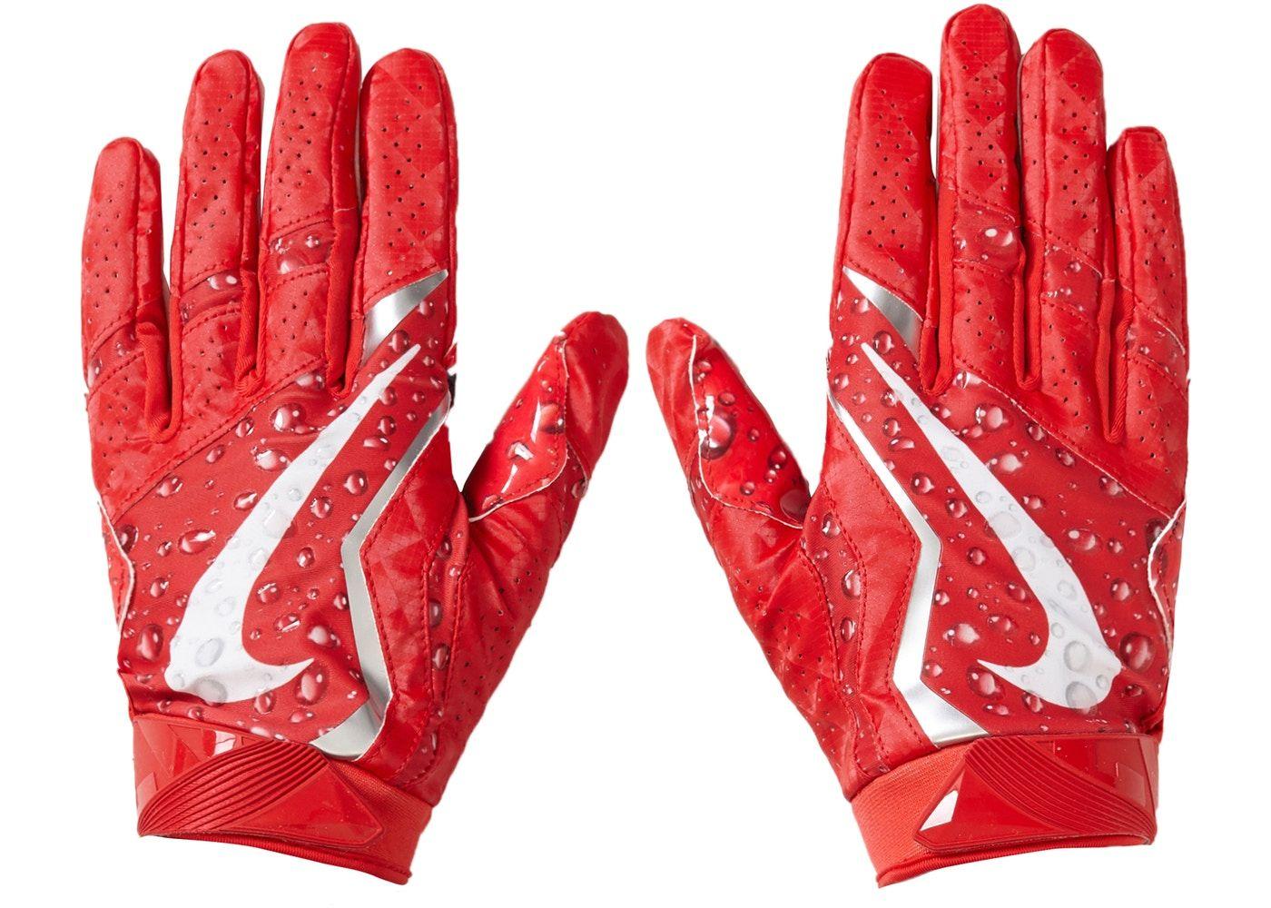Supreme Nike Vapor Jet 4 0 Football Gloves Red Football Gloves Nike Vapor Red Gloves
