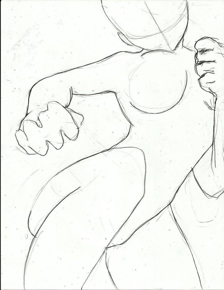 How To Draw Manga Fighting Pose Ejercicios De Dibujo Dibujos Como Dibujar Manga