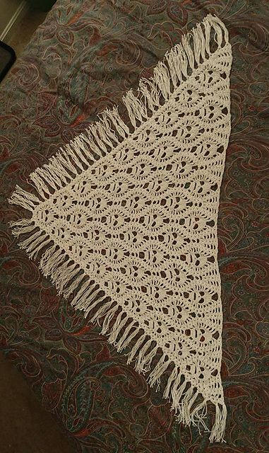 Seeing So Many Skull Shawl Patterns Lately That Are An Open Kind Of