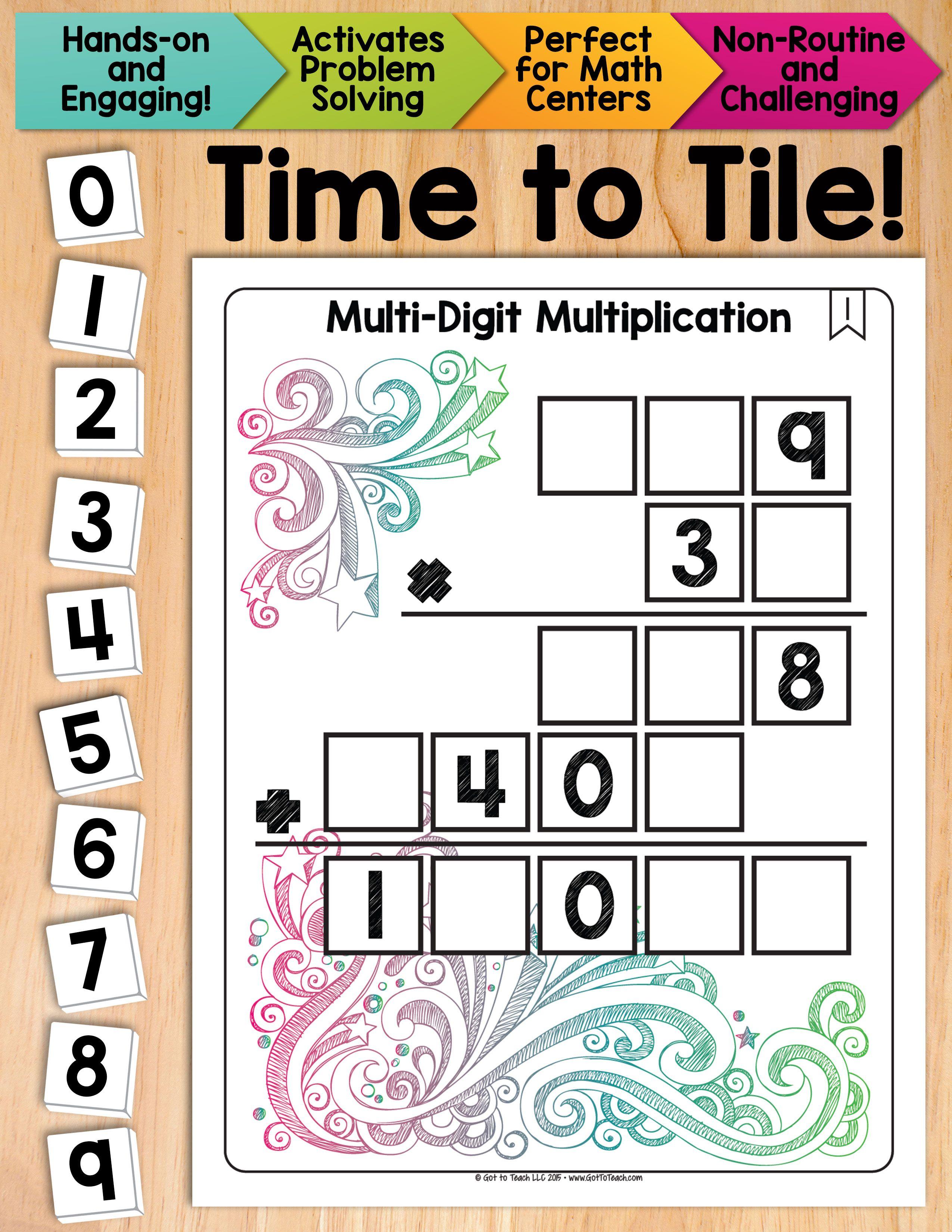 Math Tiles Multi Digit Multiplication Math Centers