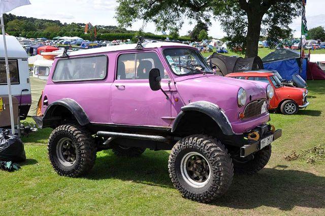 Austin Mini Clubman Monster Truck In Mauve Minis Mini 4x4