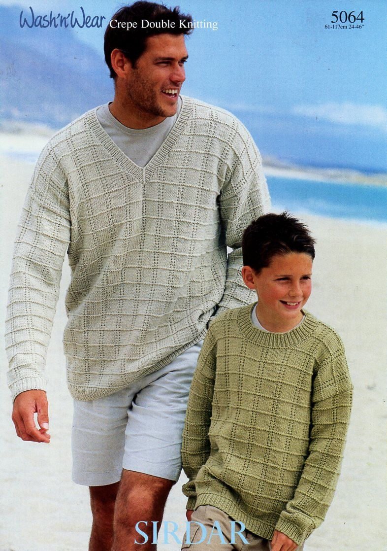 Original mens dk sweaters knitting pattern sirdar 5064 mens original mens dk sweaters knitting pattern sirdar 5064 mens textured jumpers boys 24 46 dk light worsted 8ply hard copy paper pattern bankloansurffo Image collections