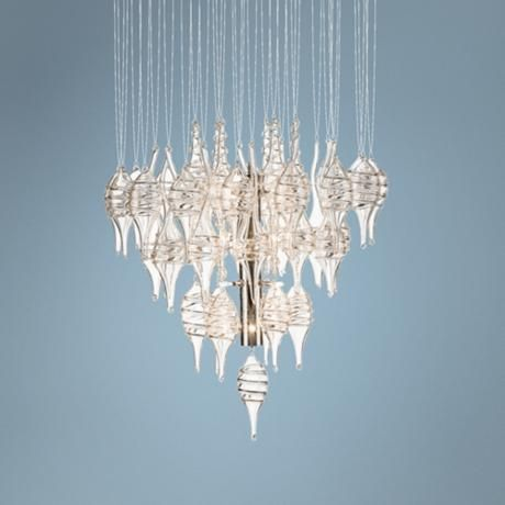 "Elan Alveare 19 1/4"" Wide Blown Glass Chandelier -"