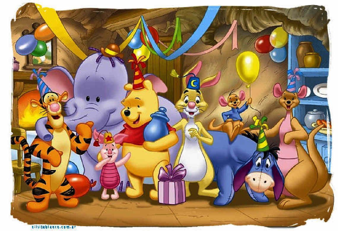 5D Diamond Painting Winnie the Pooh Moonlight Party Kit