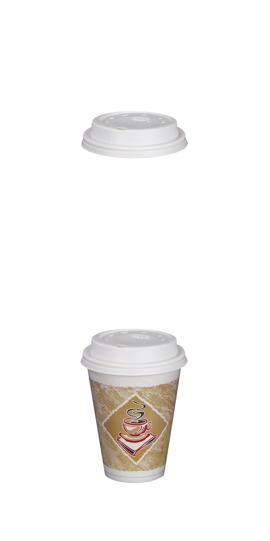 Paper Cups 179200: Paper Plastic Lid Oz Hot Cup Cups Dixie