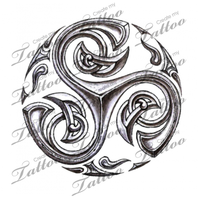 Marketplace Tattoo Tribal Celtic Triskelion 5622 Createmytattoo Com Triskel Tatouage Tatouage Celtique Tatouage