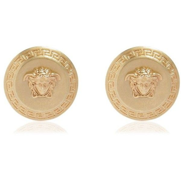 Gold and Pink Small Medusa Coin Earrings Versace VJSJu